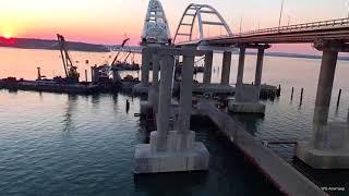 Крымский мост Завершающий этап бетонирования опоры