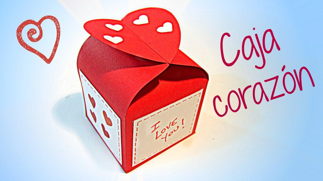 Manualidades para San Valentín: Caja corazón. - YouTube