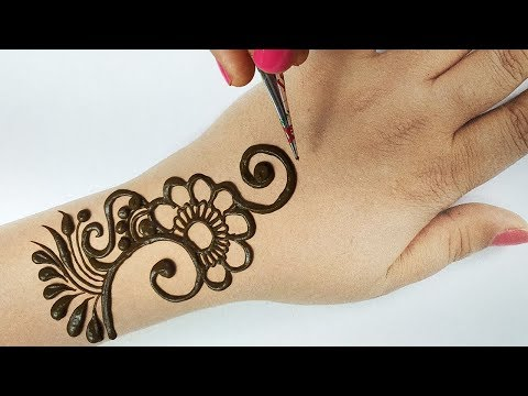 मेहँदी लगाना सीखे आसानी से - Easy Beautiful Mehndi design Full Hand - Shaded अरेबिक मेहँदी लगाएं