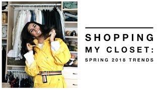 How I Shop My Closet For Spring 2018 Trends | Minimalism | Capsule Closet
