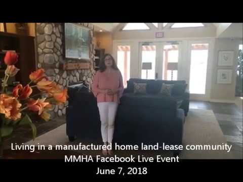 Living in a manufactured home land-lease community