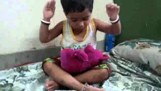 2 Years KASTURI PARAB singing Marathi & English Balgit i.e. Nursery Rhymes