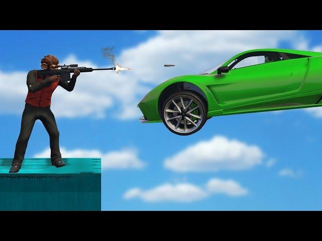SNİPER VS STUNT YAPAN ARABALAR!! (GTA 5 Online Komik Anlar)