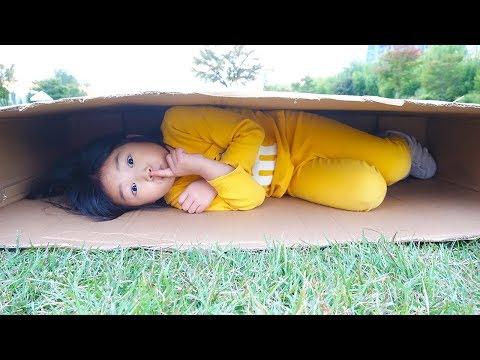 놀이터 미끄럼틀 타는데 비가와요!! 2탄 알파벳 퍼즐매트 집짓기 장난감 놀이 Rain Rain Go Away Song with Boram and Little Baby Doll