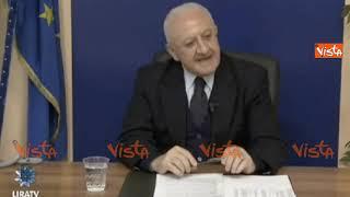"""De Luca: """"La presentazione del reddito di cittadinanza sembrava il sarchiapone di Walter Chiari"""""""