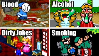There Is Blood, Alcohol, Dirty Jokes and Smoking in Mario Games