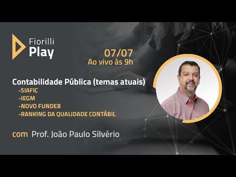 Contabilidade Pública (temas atuais) - SIAFIC - IEGM - Novo FUNDEB - Ranking da Qualidade Contábil