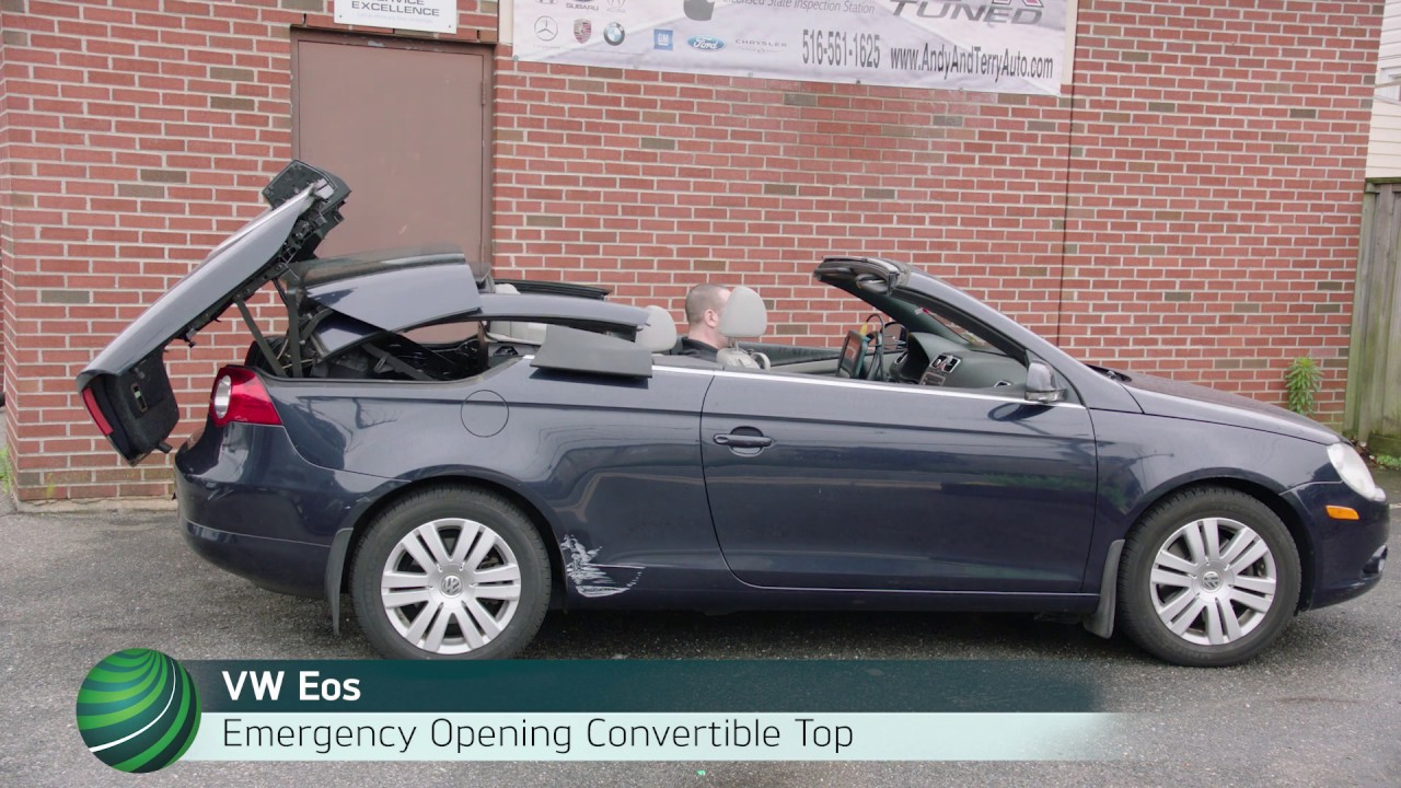Vw Eos Convertible Hardtop Emergency Opening And Closing Youtube