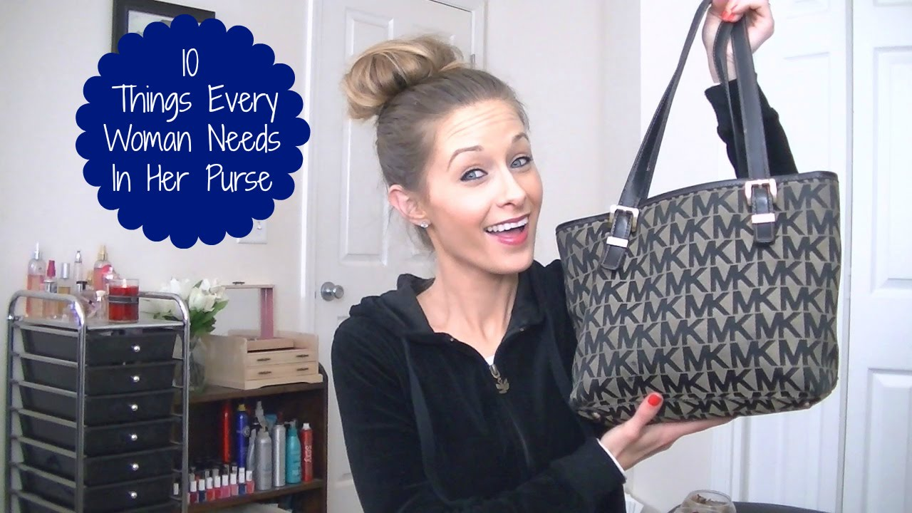 things a woman should have in her purse purse essentials youtube