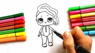 DRAW LOL Surprise DIY Doll |Draw Toy Tutorial | Liitle Girl :: Как нарисовать Куклу Лол| LOL