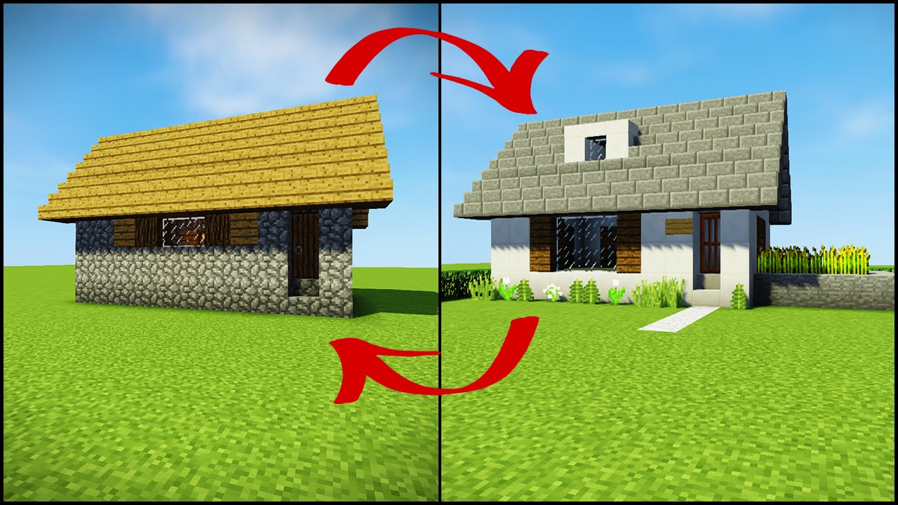 Transforming a Minecraft Village House YouTube