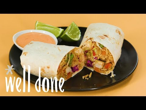 How To Make A Chicken Fried Rice Burrito | Recipe | Well Done