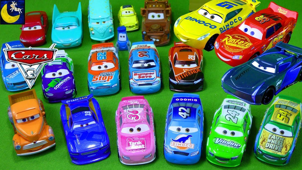 Lots Of Disney Cars Diecast Lightning Mcqueen Jackson Storm