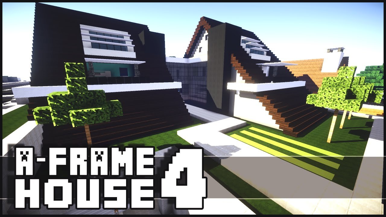 minecraft modern a frame house 4 youtube
