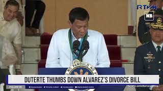 Duterte thumbs down Alvarez's divorce bill