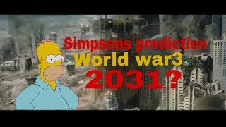 The simpsons prediction about World war 3(2031 end of world ?): World war china?