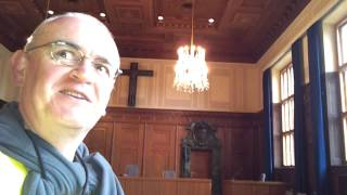 INSIDE NUREMBERG WAR CRIMES COURT ROOM, NUREMBERG, GERMANY