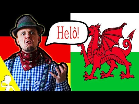 A German Attempting To Speak WELSH 🏴 Get Germanized