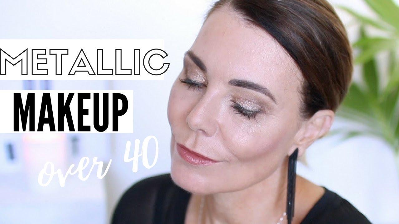 how to: metallic makeup for mature eyes - makeup tutorial - youtube
