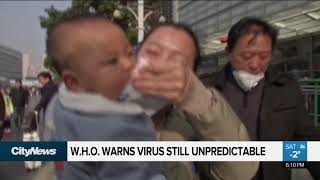 China sees drop in coronoavirus cases, W.H.O. still 'concerned'
