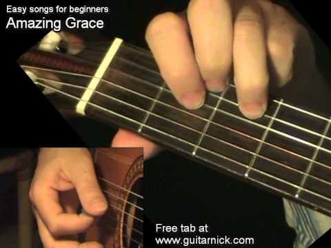 amazing grace chords melody guitar lesson tab by guitarnick youtube. Black Bedroom Furniture Sets. Home Design Ideas