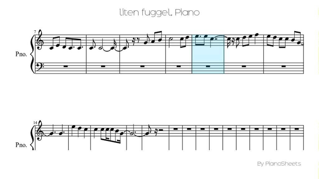 liten fuggel [Piano Solo] - YouTube