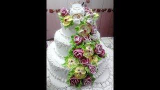 Свадебный  трёх ярусный торт