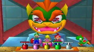 Mario Party 2 MiniGames - Mario vs Luigi vs Peach vs Yoshi