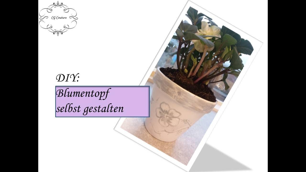 Diy blumentopf selbst gestalten malen mal anders youtube for Blumentopf gestalten