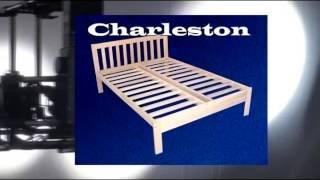 Full Size Charleston Platform Bed Frame - Solid Hardwood