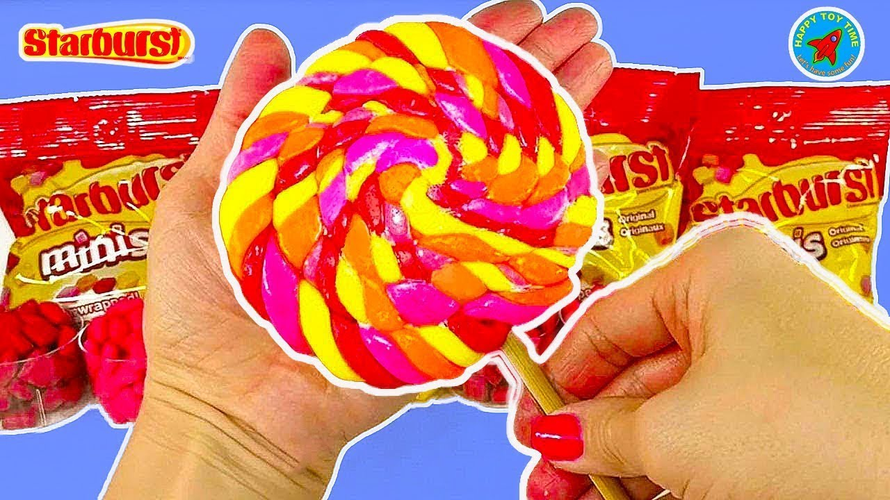 DIY: Easy Giant Starburst Homemade Lollipop!  Easy Recipe and Delicious!