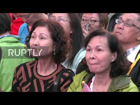 "Taiwan: Thousands celebrate Pres. Tsai Ing-wen""s landslide re-election victory"