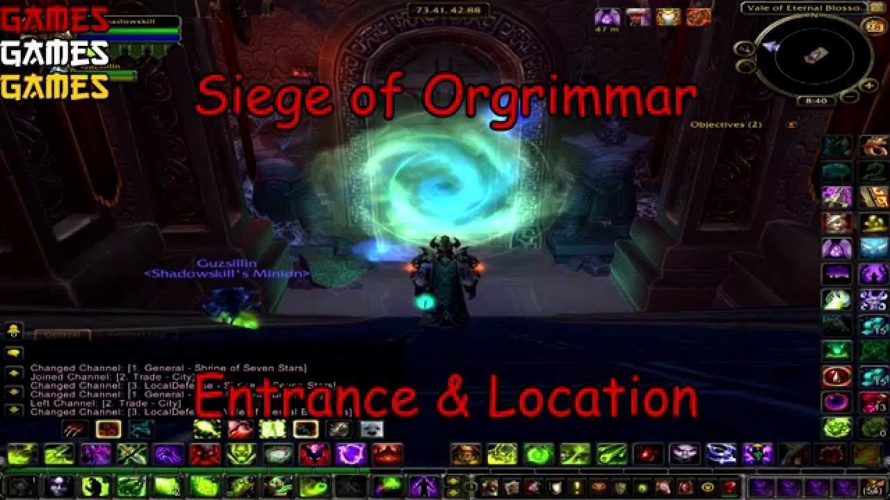 Siege of orgrimmar raid entrance location youtube for Terrace of the endless spring location