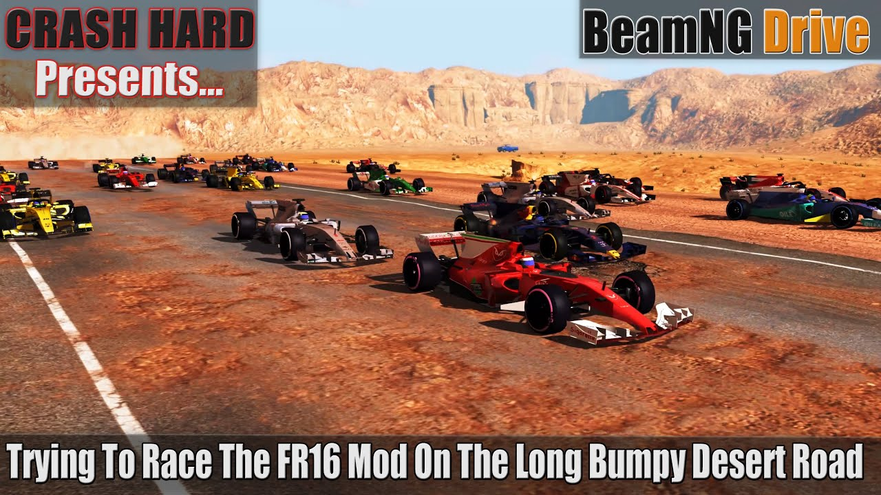 BeamNG Drive - Trying To Race The FR16 Mod On The Long Bumpy Desert Road