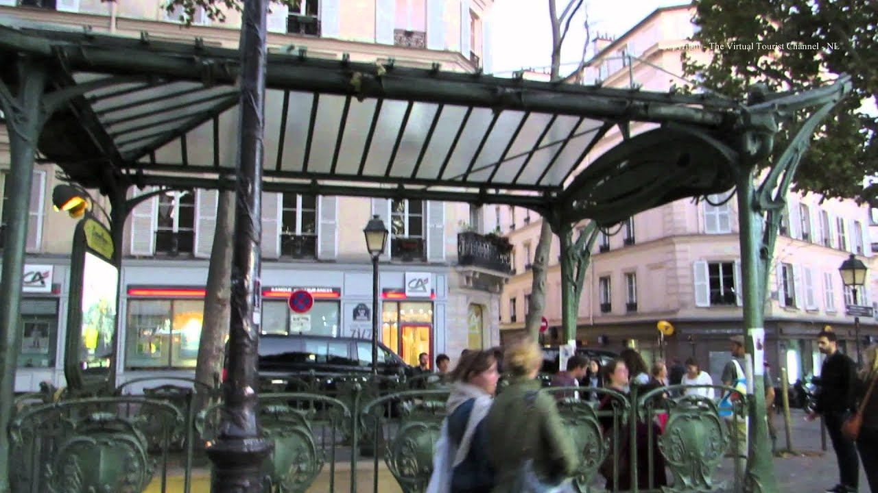 Abbesses Art Nouveau Metro Station in Paris - YouTube