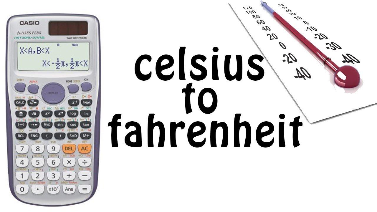 how to transfer celsius to fahrenheit