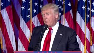 President-elect Trump promises to be President for all Americans
