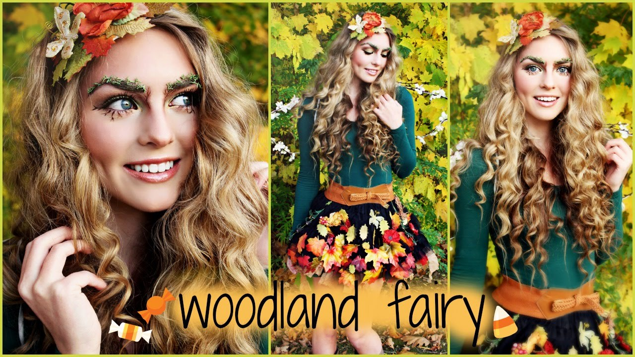f707c5066ba Woodland Forest Fairy Makeup, Hair Tutorial and D.I.Y Costume Idea! -  Jackie Wyers