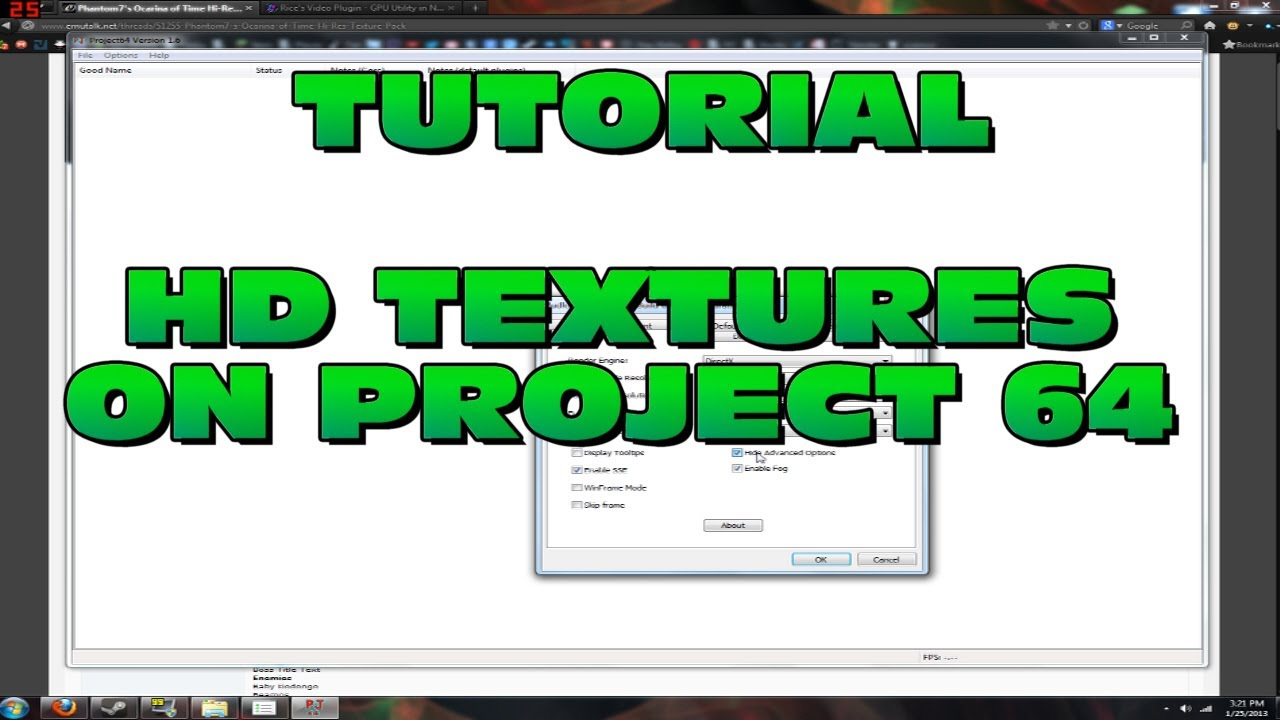 TUTORIAL: Use HD Texture Packs for Project 64 (N64 HD)
