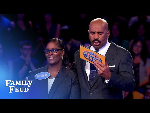 Final answer! She needs 22 points for $20,000! | Family Feud