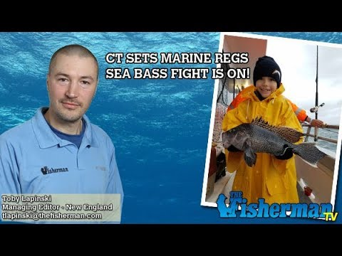 March 29 2018 new england fishing report with toby for Ct saltwater fishing regulations