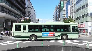 日本の交通 京都市営バス 京阪バス 観光バス タクシー タンクローリー 信号機 Japanese Traffic