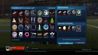 Rocket League Part 1 Blind Fold Trading with Skull Gaming