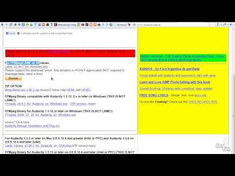 Audacity tippek - WMA, FLAC importálása FFmpeg kodekkel