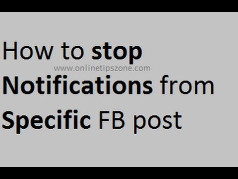 How to stop getting notifications every time a friend posts on facebook