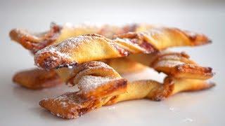 """Печенье творожное """"Спиральки"""" с джемом и орехами #быстро_к_чаю"""