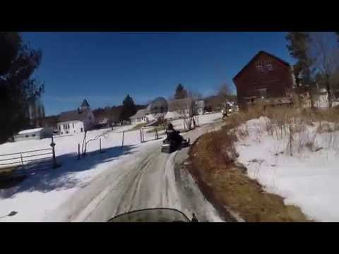 Westfield VT road riding on snowmobiles ouch! 2015.03.29