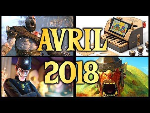 L'essentiel des sorties de Jeux Vidéo - AVRIL 2018