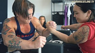 Arm Wrestling | Kortney Olson VS Aleksandra Ozerova