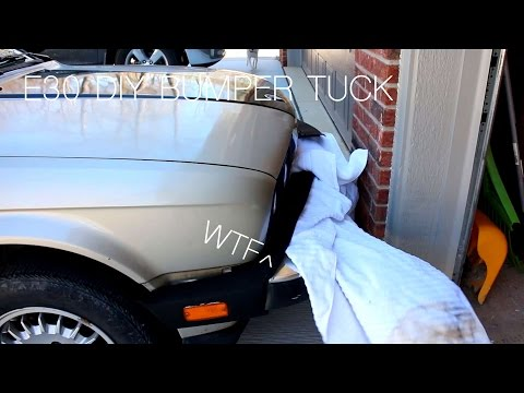 DIY BMW E30 Bumper Tuck    | I Drive Into a Wall!